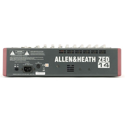 Allen & Heath ZED-14 Mixer - 6 Mono / 4 Stereo with USB