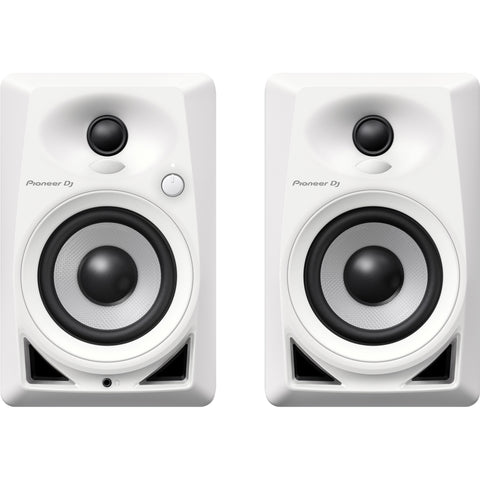 "Pioneer DM-40 Compact 4"" Active Studio Monitor Speakers (Pair) - White"
