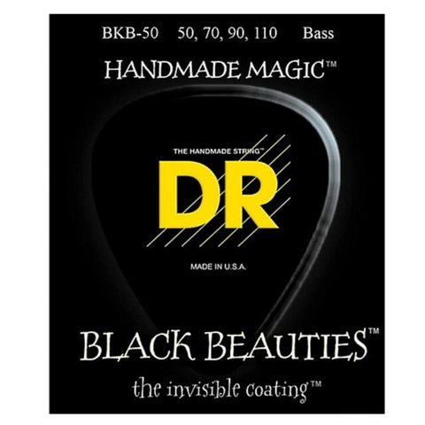DR Strings BKB-50 (Heavy) - BLACK BEAUTIES  - BLACK Coated Bass: 50, 70, 90, 110