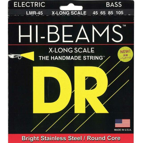 DR Strings LMR-45 (Medium -X-Long Scale) - HI-BEAM  - Stainless Steel: 45, 65, 85, 105  *X-LONG SCALE