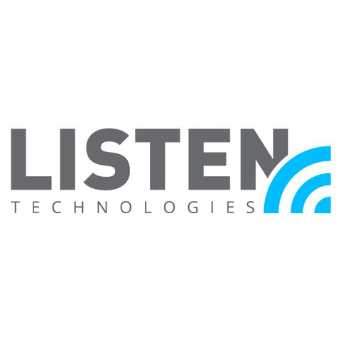 "Listen Technologies T-LOGO-SMALL - ""T"" Logo Installed Adhesive Sign - Small (5.8"" x 4.1"")"