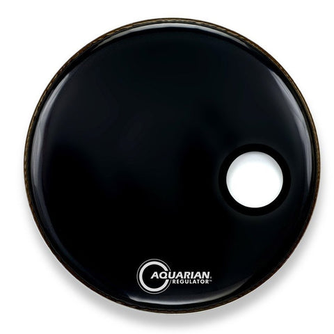 Aquarian RSM22BK - 22'' REGULATOR SM PORT/RING BLK22''DRUMHEAD