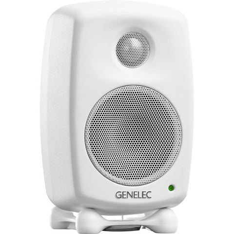 Genelec 8010AW - 8010A 3'' 2-Way 50W Active Studio Monitor (Single, White)