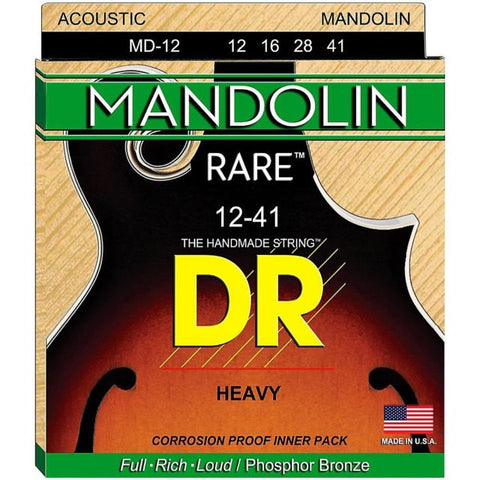 DR Strings MD-12 (Bluegrass) - MANDOLIN:   12, 16, 28, 41