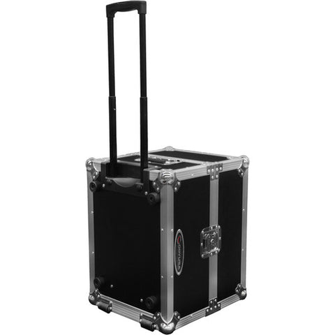 Odyssey Flight Zone Photo Booth Printer Case with Pullout Handle and Wheels (Black)