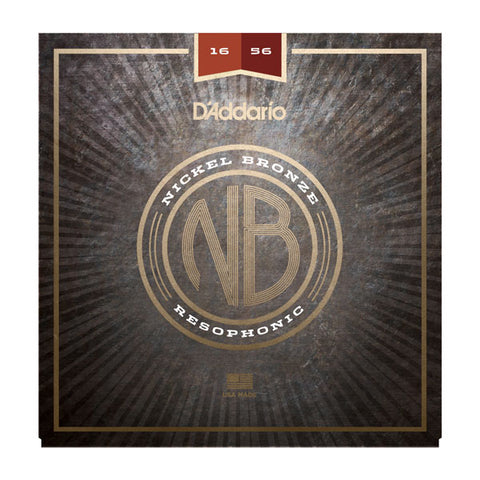 D'Addario NB1656 - SET RESOPHONIC NICKEL BRONZE