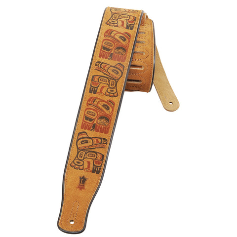 Levy's MSS3PHG-HNY Suede Leather Guitar Straps