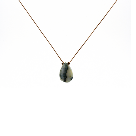 Grounding: Moss Agate Necklace