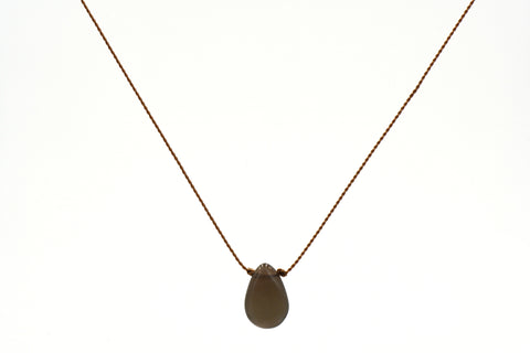 New Beginnings: Chocolate Moonstone Necklace