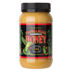 Tasmanian Leatherwood Honey 1kg plastic jar