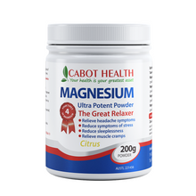 Load image into Gallery viewer, Cabot Health Magnesium Ultra Potent 200g Citrus