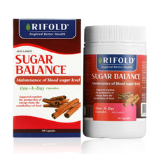 Load image into Gallery viewer, Rifold Sugar Balance 90 Capsules.