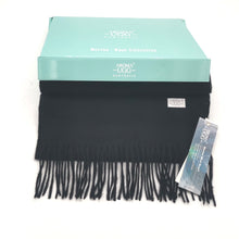 Load image into Gallery viewer,  Aroma Ugg Australia Merino Wool Scarf 30cm x 180cm  Jet Black