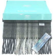 Load image into Gallery viewer, Aroma Ugg Australia Merino Wool Scarf 30cm x 180cm  Gunmetal Grey