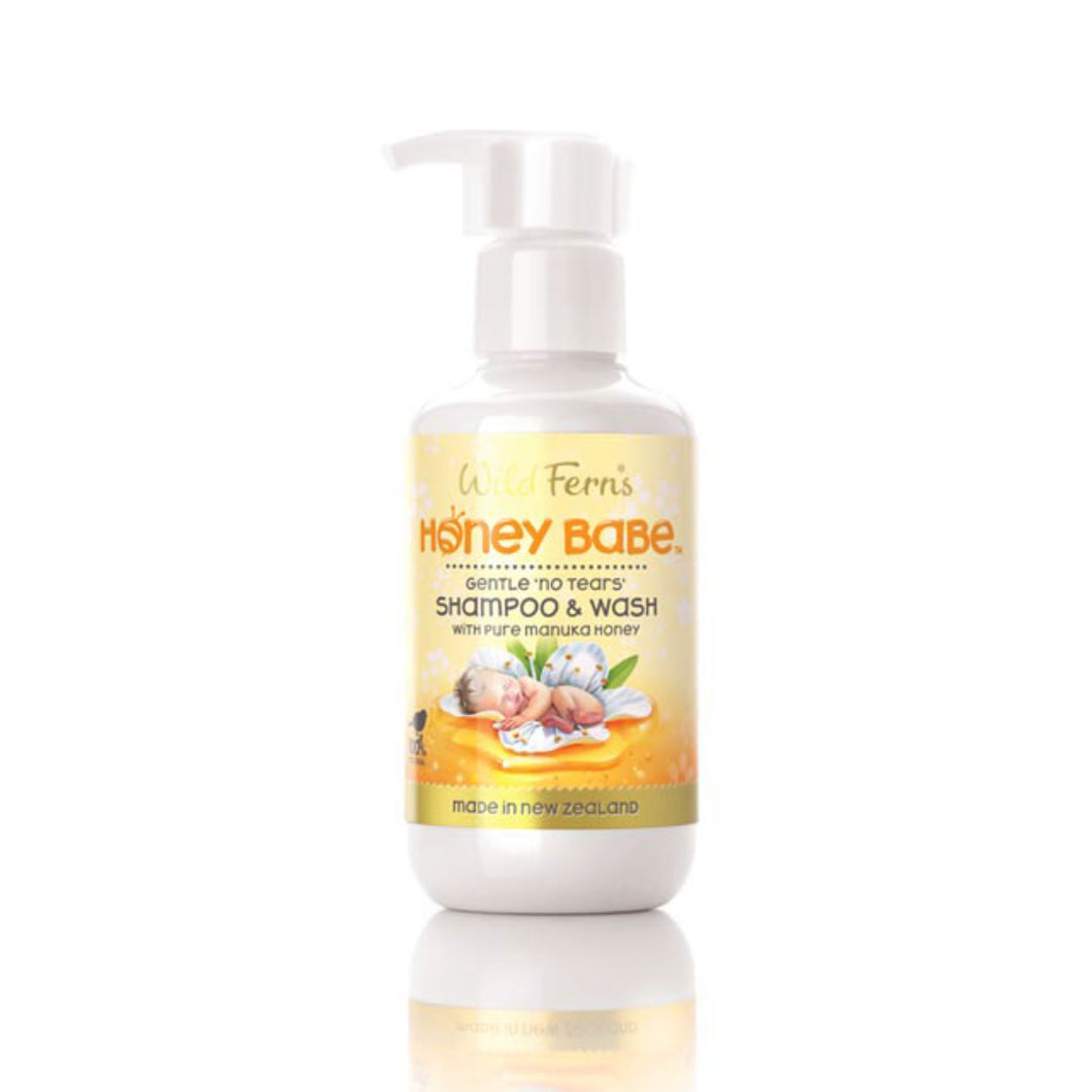Wild Ferns Honey Babe Shampoo & Wash  with Pure Manuka Honey 140ml