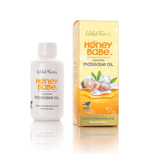 Wild Ferns Honey Babe Calming Massage Oil with Pure Manuka Honey 120ml