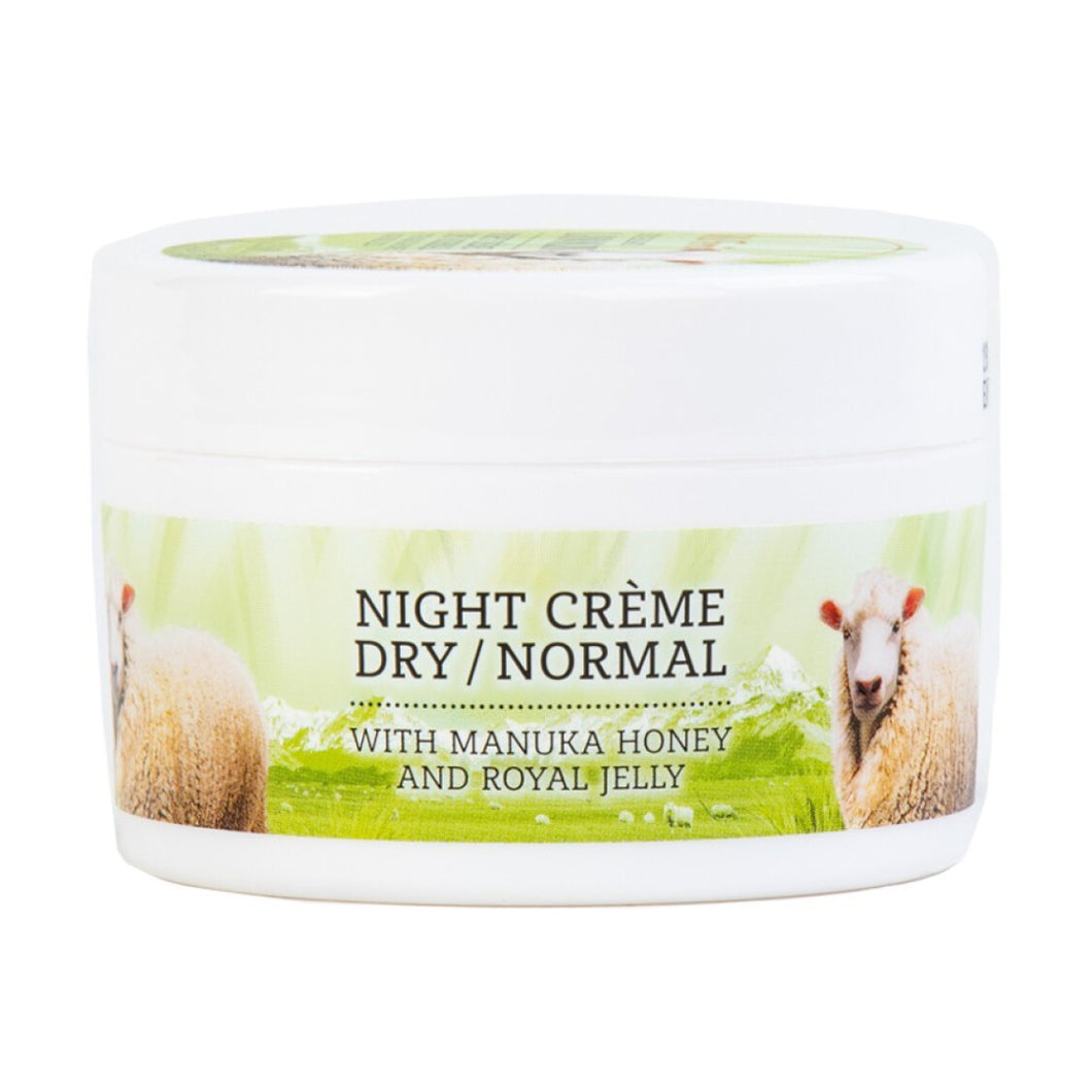 Wild Ferns Lanolin Night Creme - Dry to Normal - with Manuka Honey and Royal Jelly 100ml