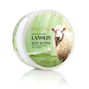 Wild Ferns Lanolin Body Butter with Shea Butter and Jasmine 175g