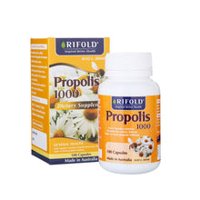 Load image into Gallery viewer, Rifold Propolis 1000mg 200 capsules