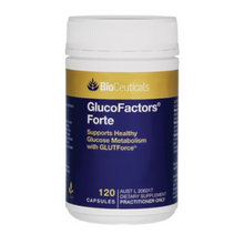 Load image into Gallery viewer, BioCeuticals GlucoFactors® Forte 120 capsules