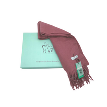 Load image into Gallery viewer, Aroma Ugg Australia Alpaca Scarf Plum