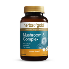Load image into Gallery viewer, Herbs of Gold Mushroom 5 Complex 60 Capsules