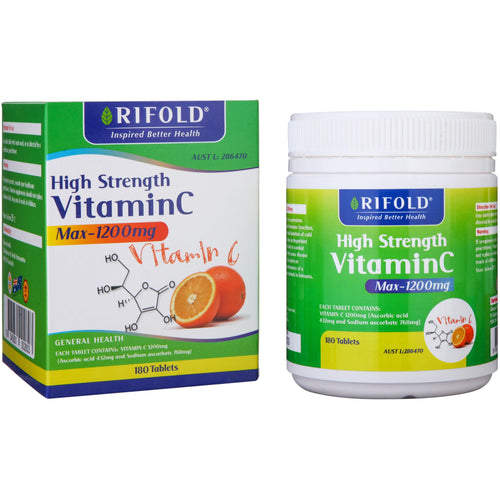 Rifold High Strength Vitamin C Max-1200mg 180 tablets