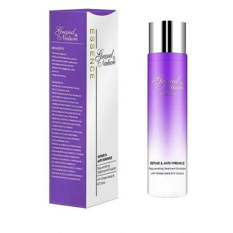 Grand Nature Repair & Anti-wrinkle Rejuvenating Treatment Emulsion with Grape Seed & Q10 plus