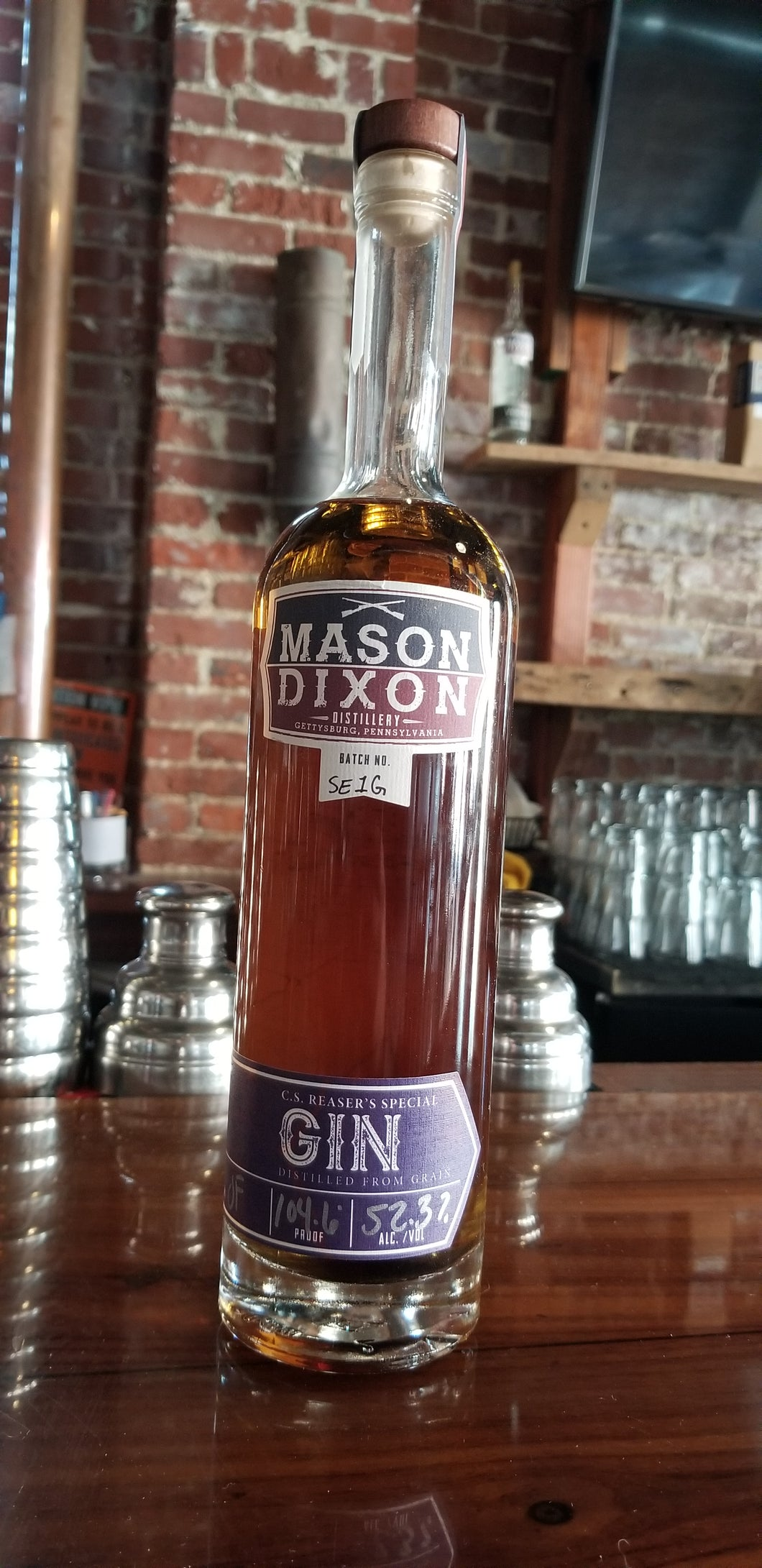 MDD Barrel Rested GIn - Mason Dixon Distillery