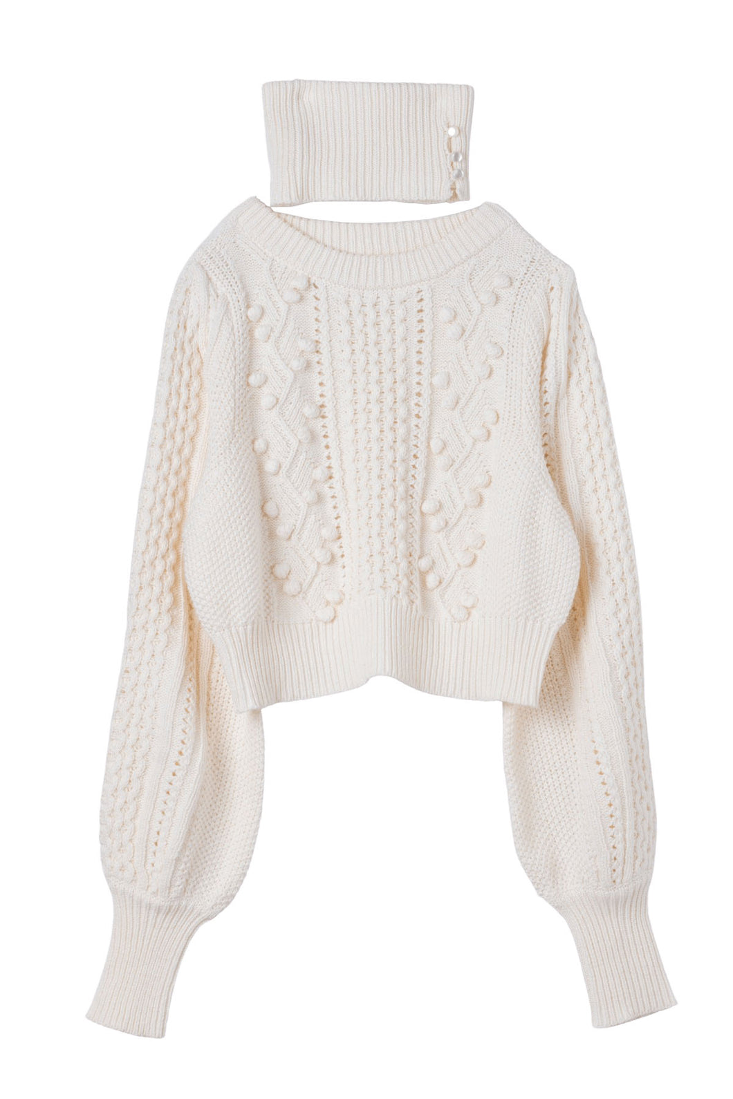 Cotton flower knit muguet