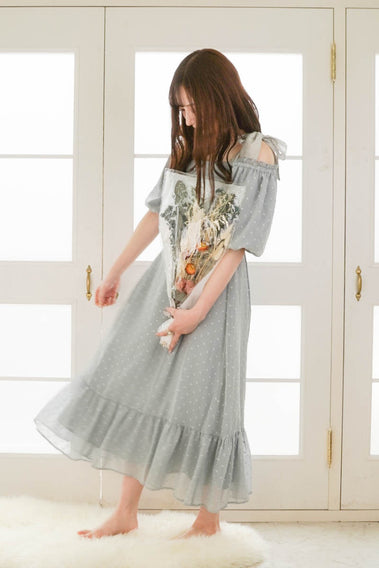 Fairy tale 3way onepiece / gray