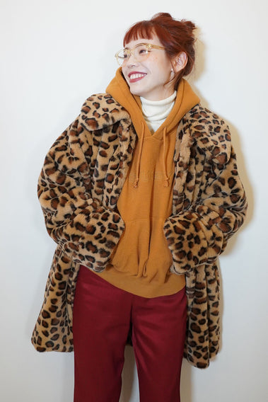 70's Actress Fur Coat / Brown