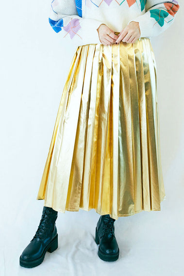 Present Shiny Skirt / Gold