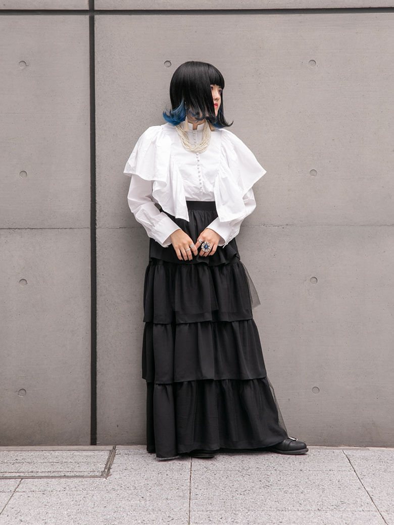 tiered skirt(black)