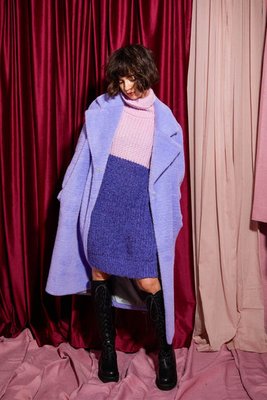 City Romance Long Coat / purple