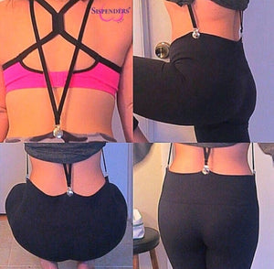 Women's Undergarment Suspenders, Y-back, Butt Lifting, Smoothing, Shapewear and Belt Alternative.