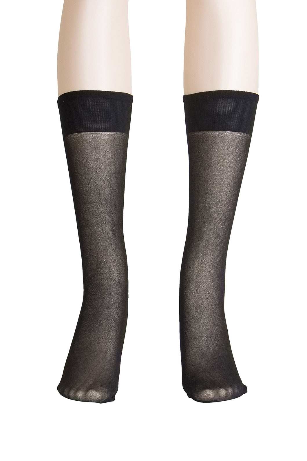 Lissele 'Light' Support Women's Plus Size Knee High 3 Pack (Black, XXXXL)