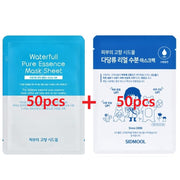 [Sidmool] Waterfull Pure Essence Mask 50pcs + Polysaccharide Real Moisturizing Soothing Mask 50pcs - BEST BEAUTIP