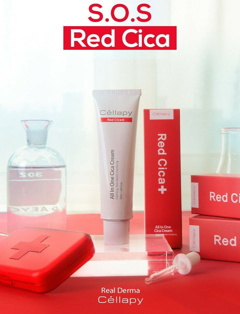 [Cellapy] Red Cica + All In One Cica Cream 50ml / 1.69 fl.oz with EGF K-beauty - BEST BEAUTIP