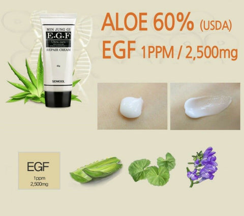 [Sidmool] MIN JUNG GI EGF Repair Cream 60g / 2.11oz K-beauty USDA Organic Aloe 60% - BEST BEAUTIP