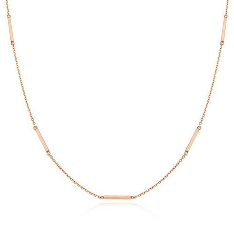 [STONE HENGE] SILVER 925 Stick Necklace K1253 with Case K-beauty Rose Gold Plated - BEST BEAUTIP