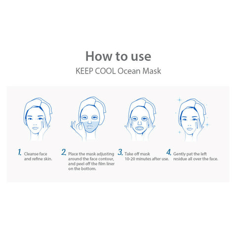 [KEEP COOL] Ocean Intensive Hydrating Mask 25g (10ea) K-beauty - BEST BEAUTIP