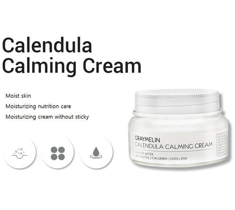 [GRAYMELIN] Calendula Calming Cream 50g / 1.76oz with Glacier water K-beauty - BEST BEAUTIP