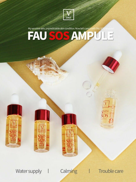 [FAU] SOS Ampoule 10ml / 0.33oz with Centella Asiatica Extract K-beauty - BEST BEAUTIP