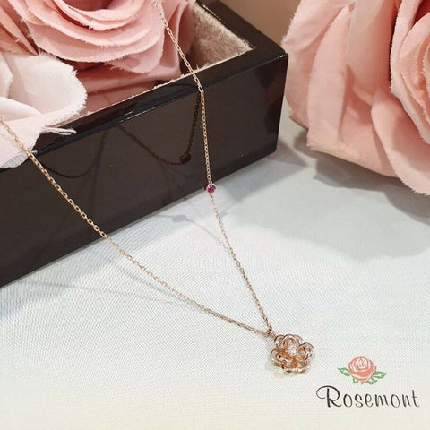 twinkidea - [ROSEMONT] 14K Rose Necklace RS0692 with Case K-DRAMA tvN PARK MINYOUNG - ROSEMONT - Necklaces
