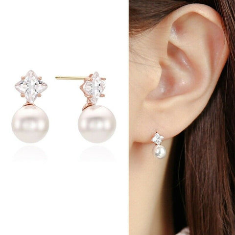 [LLOYD] 10K Pink Gold Pearl Stone Earrings LPTJ4094T with Case K-beauty - BEST BEAUTIP