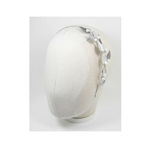 [KATENKELLY] Silver Leaf Pearl Hair Band 1pcs K-beauty - BEST BEAUTIP