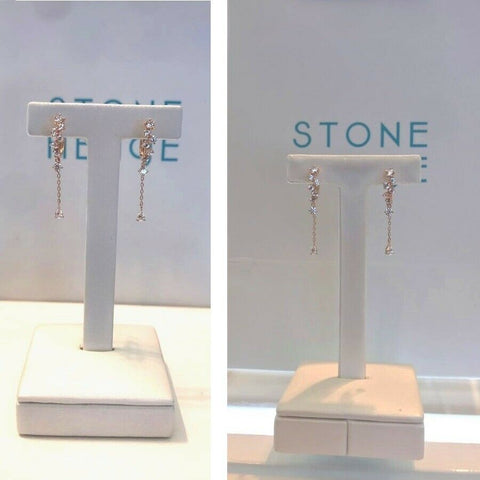 twinkidea - [STONE HENGE] 14K Rose Gold One-touch Drop Earrings T1332 with Case K-beauty - STONE HENGE - Earrings
