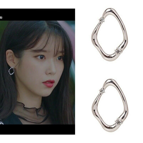 [PRIMAUTE] MEMORY_01 Silver Earrings K-drama IU Wearing of Drama Hotel DelLuna - BEST BEAUTIP