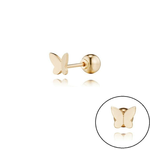 [STONE HENGE] 14K R.G Love Duet Butterfly Piercing T1502 with Case K-beauty - BEST BEAUTIP